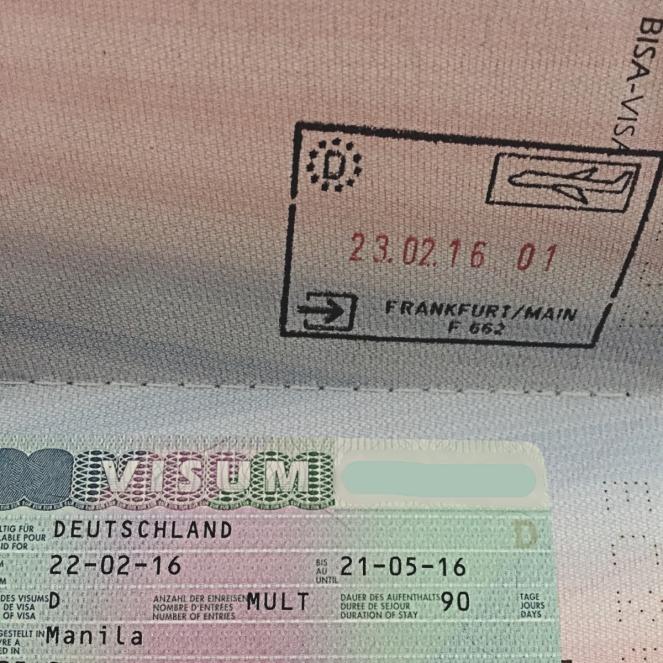 my German visa and passport
