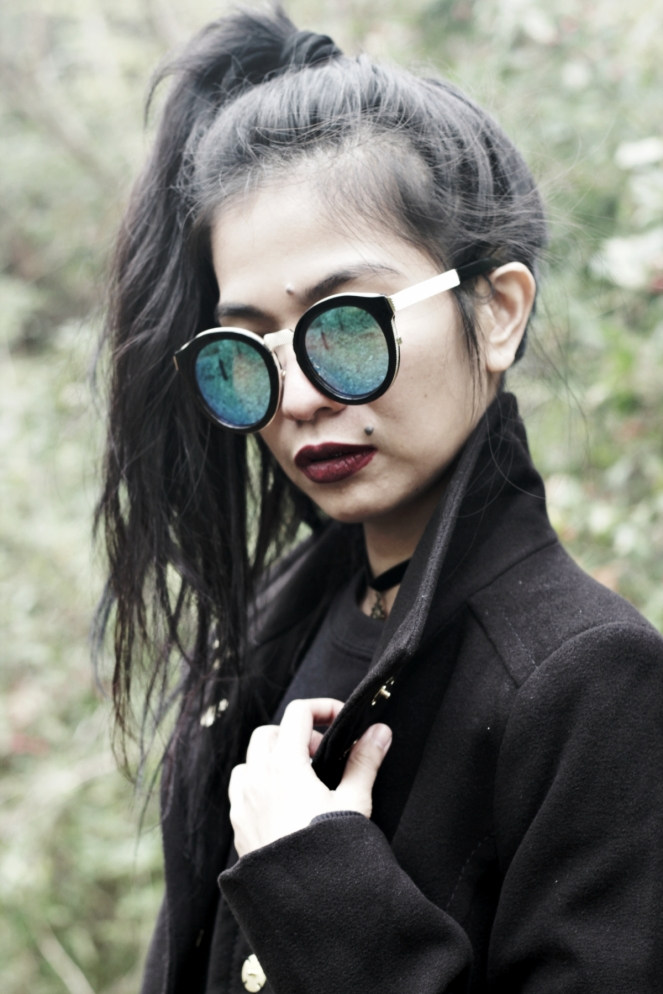 grunge fashion, grunge outfit, all black style