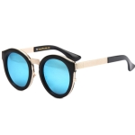 Black Frame Metal Splicing Sunglasses